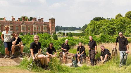 Head gardener Paul Underwood looks after the garden with help from four employed gardeners and a tea