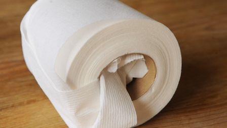 The contents of Gaye Youngman's bag when she visited Uganda. Toilet roll. Picture: Denise Bradley