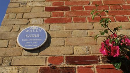 Another plaque to Wally Webb
