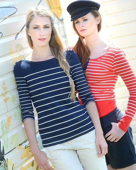 Breton cap in navy by Guy Cotton, £19.95, Joules, Newmeln Tilley Top in red/white, £34.95, Musto Evo