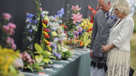 The Prince of Wales and The Duchess of Cornwall leaving the Sandringham Flower Show. Picture: Ian Bu