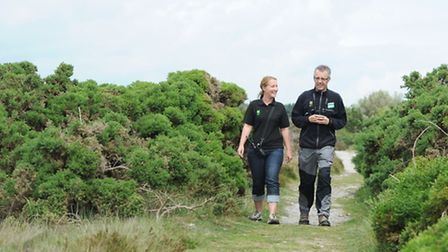 Alison Joseph and Richard Gilbert from The National Trust based at Dunwich Heath talk about the visi