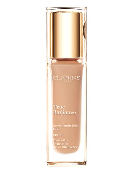 You may not need it but if you do, Clarins' new True Radiance Foundation will help you achieve tha
