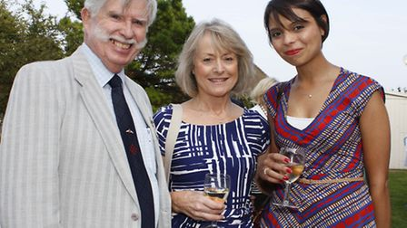 Terry Trevett, chairman of the Bournemouth Red Arrows Association, with Dawn and Emma Egging