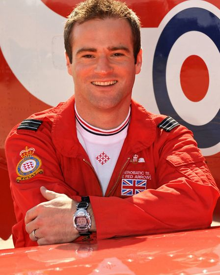 Flt Lt Jon Egging - Red 4 with the Royal Air Force Aerobatic Team
