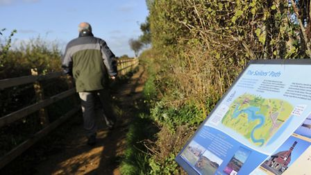 A new information board for the Sailors' Path in Aldeburgh was unveiled for the Suffolk Coast and He