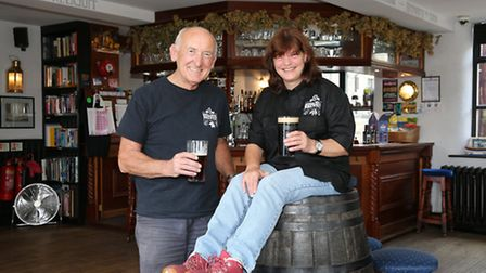 Sara D'Arcy and partner Keith at Irwell Works Brewery