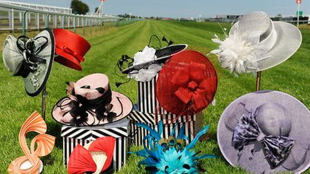 EDP Norfolk Magazine. July. Fashion. Hats feature at Great Yarmouth Racecourse.