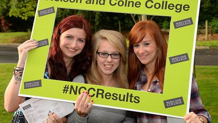 Nelson and Colne College Sixth Form - Lauren Tansey, Amy Elliot and Ashleigh Haythronthwaite (L-R)
