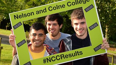 Nelson and Colne College Sixth Form - Umair Asif, Craig Hardy and Lewis Turner (L-R)