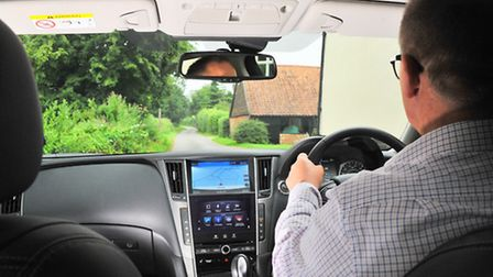 Infiniti Q50 road test with Andy Russell. Photo by Simon Finlay.
