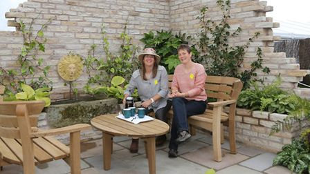 Claire Skidmore and Clare Edwards won The Brian Aughton Memorial Trophy for best use of plants in a