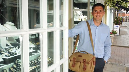 What's in your bag? Oliver Webb from Webb's Jewellers, Holt.PHOTO: ANTONY KELLY