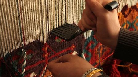 A great deal of work goes into making a fine rug