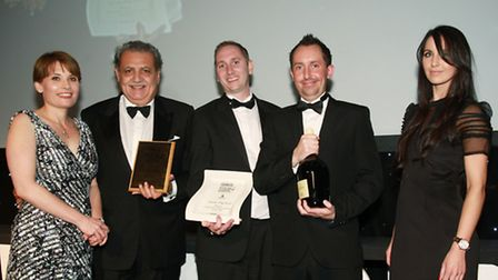 NW Afternoon Tea of the Year Alderley Edge Hotel Hotel: Claire Montgomery (left) with Ahmet Kurce