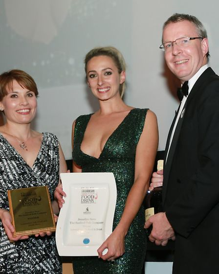 Lancashire Life Food & Drink Hero of the Year Joycelyn Neve, The Seafood Pub Company, with Award Spo