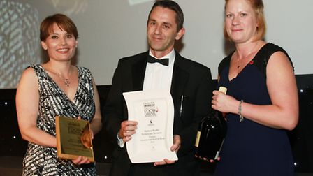 Cheshire Life Food and Drink Hero of the Year Martyn Weeks, Robinsons Brewery with Claire Montgomery