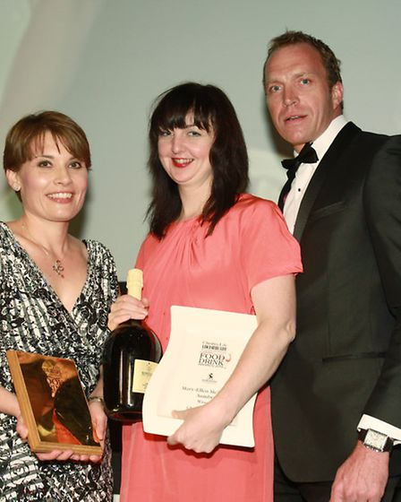 North West Chef of the Year Mary-Ellen McTague, Aumbry, with Claire Montgomery and Oliver Robinson