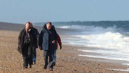People on shingle, credit Barry Madden