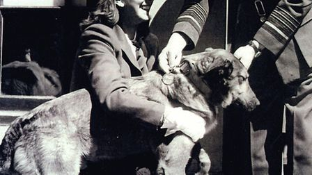 Bing, also known as Brian, receiving his medal