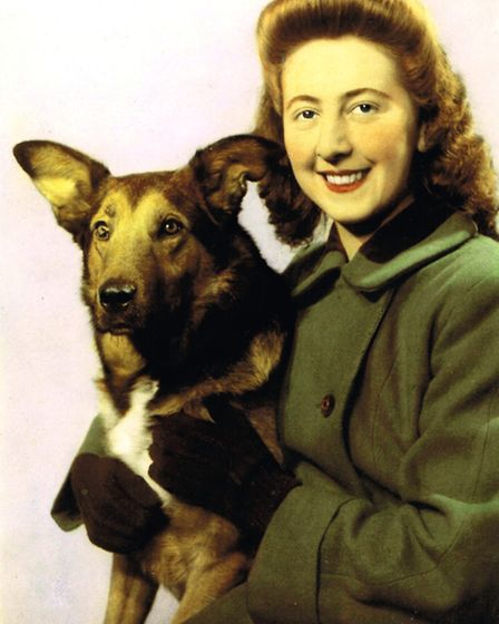 Betty Fetch with her beloved dog