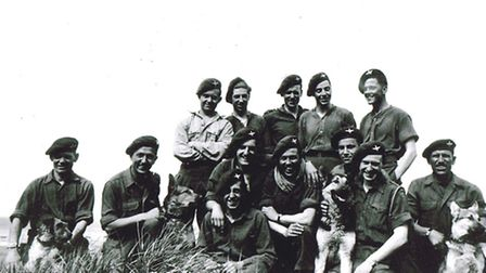 Bing with his comrades