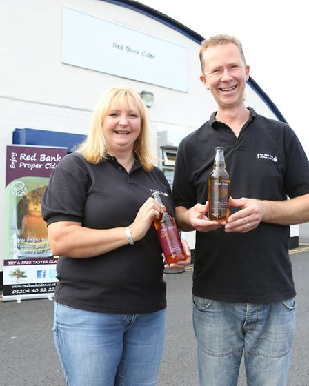 Anita and Lee Thorne of Red Bank Cider