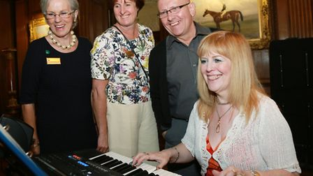 Musical interlude....Sue Black, Alison Tickle and James Taylor join Tricia McClure and the electric