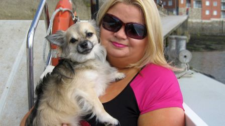 Fiona Snelson with her dog, Jasper