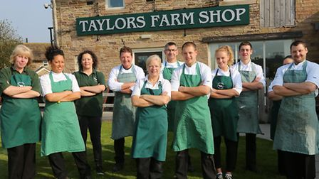 Some of the staff at Taylor's Farm Shop; Dawn Robinson, Louise Renner, Michelle Renner, Stephen Pe