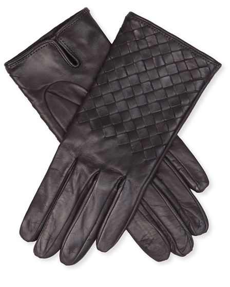 A classic design, make sure you stay warm this winter with these Bottega Veneta Woven leather gloves