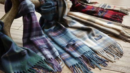 Stay warm and snuggly with these Lochmere Cashmere scarves £30 each at the Watershed Mill, Settle, w