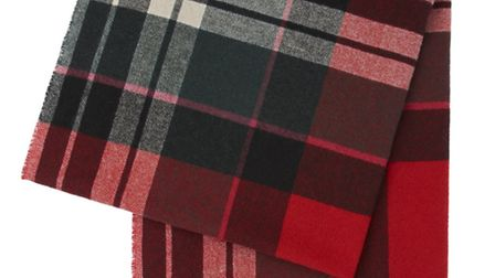 Wrap up warm with this beautiful red tartan scarf by Vivienne Westwood. £185 at www.houseoffraser.c