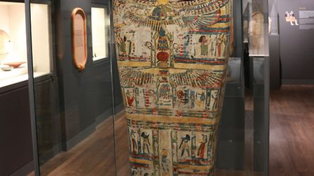 A coffin lid fron Thebes (modern-day Luxor) from the late 25th or early 26th dynasty. Circa 700- 650