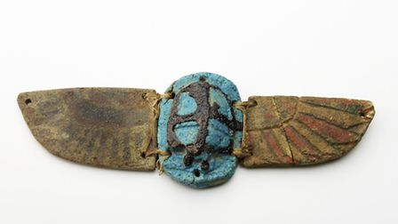 Egyptian winged heart scarab