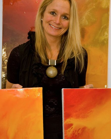 Wendy creates her art at a studio in Leyland