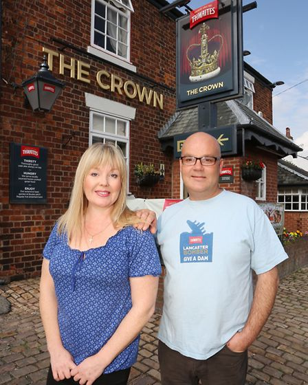Licensees, Joanne Bentley and Rob Thornton at The Crown Pub in Station Road