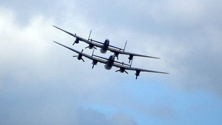 Lancaster Bombers, make their historic fly pass