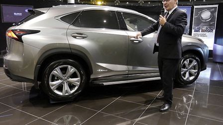 Lexus' Senior Sales & Product Training Manager Alan Mullock presents the new NX...