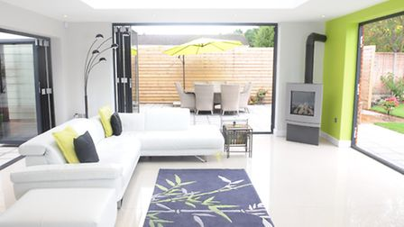 Sitting room. Mike and Linda Trower have created a Scandinavian-style home in Ipswich.