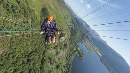 he ultimate selfie taken by Stuart on warm evening above Walla Crag and Derwentwater