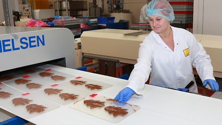 Confectionary coming off the production line