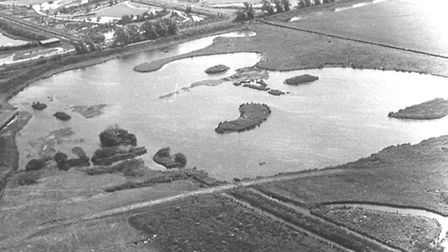 Farmland was flooded to create the reserve