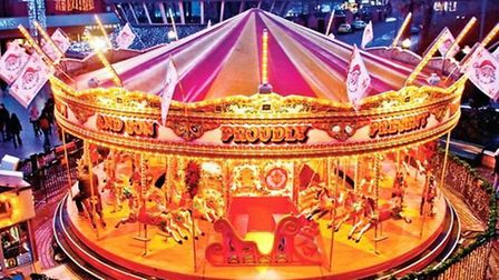 Victorian carousel in Bournemouth Sqaure
