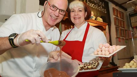 Richard and Angela Barker at their Chocolate Cottage
