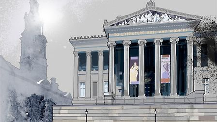 This picture of the Harris Museum, is by Lancashire Life artist Nick Oliver. See more at www.smilecr
