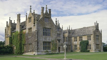 The south front of Barrington Court, built in the mid 16th century
