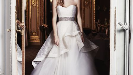 Obsession is the name of this showstopping contemporary styled gown by Caroline Castigliano, £4,499