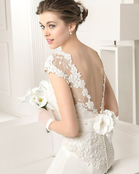 The loveliest of lace detail makes Sabine by Rosa Clara a stand out design.