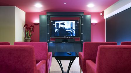 The cinema at Newstone House where residents can watch classic films with family and friends